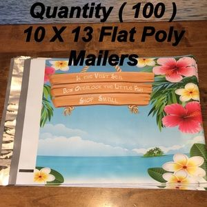 Other - 100 Shop Small Island Flat Poly Mailers
